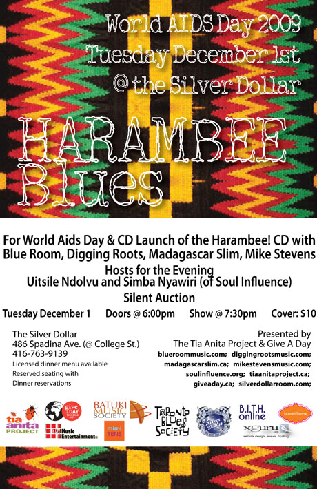 Harambee Blues December 1 2009 (World AIDS Day) @ The Silver Dollar Tavern Toronto