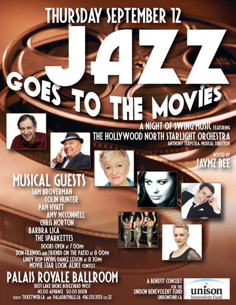 Jazz at the Movies. Palais Royale Toronto. 12 September 2013
