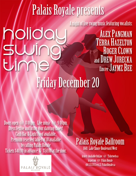 Holiday Swing. Palais Royale Toronto. 12 September 2013