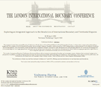 London International Boundary Conference 2013. Department of Geography, King's College; Volterra Fietta; UK Hydrographic Office